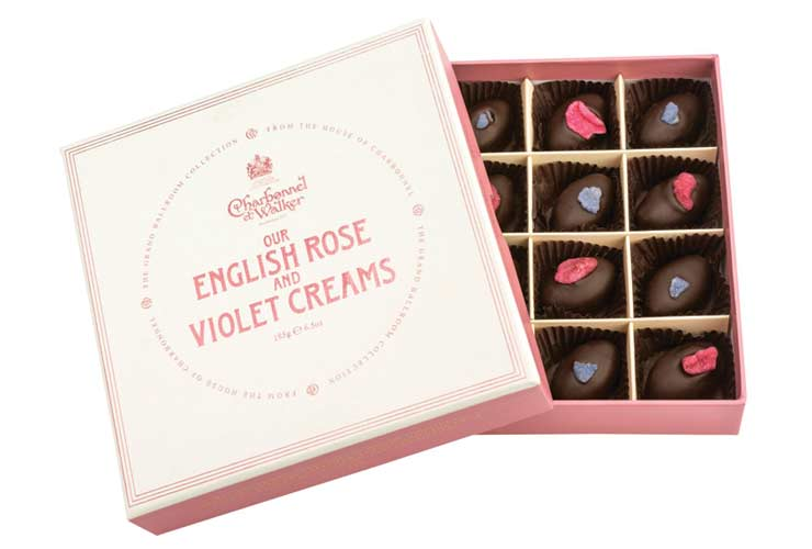 Charbonnel et Walker rose and violet creams