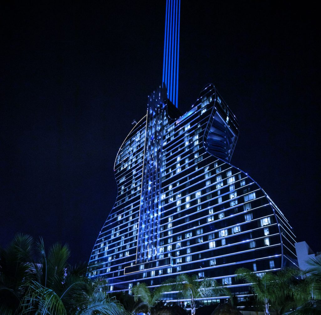Hard Rock Hotel & Casino lights up blue for Autism Awareness Month:Day