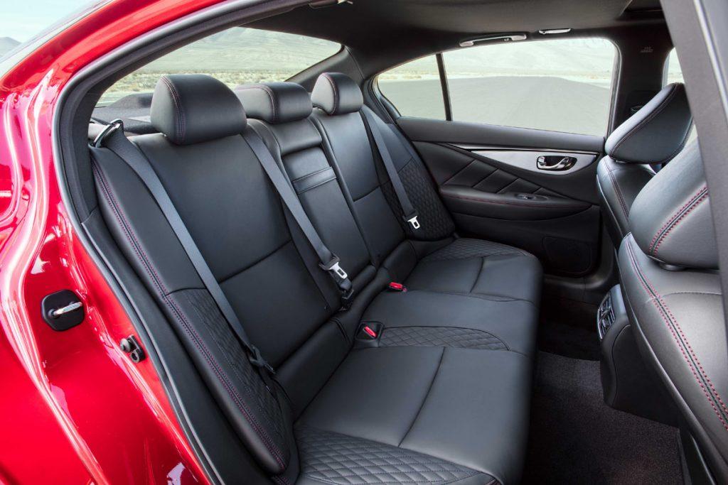 Infiniti Q50 backseat