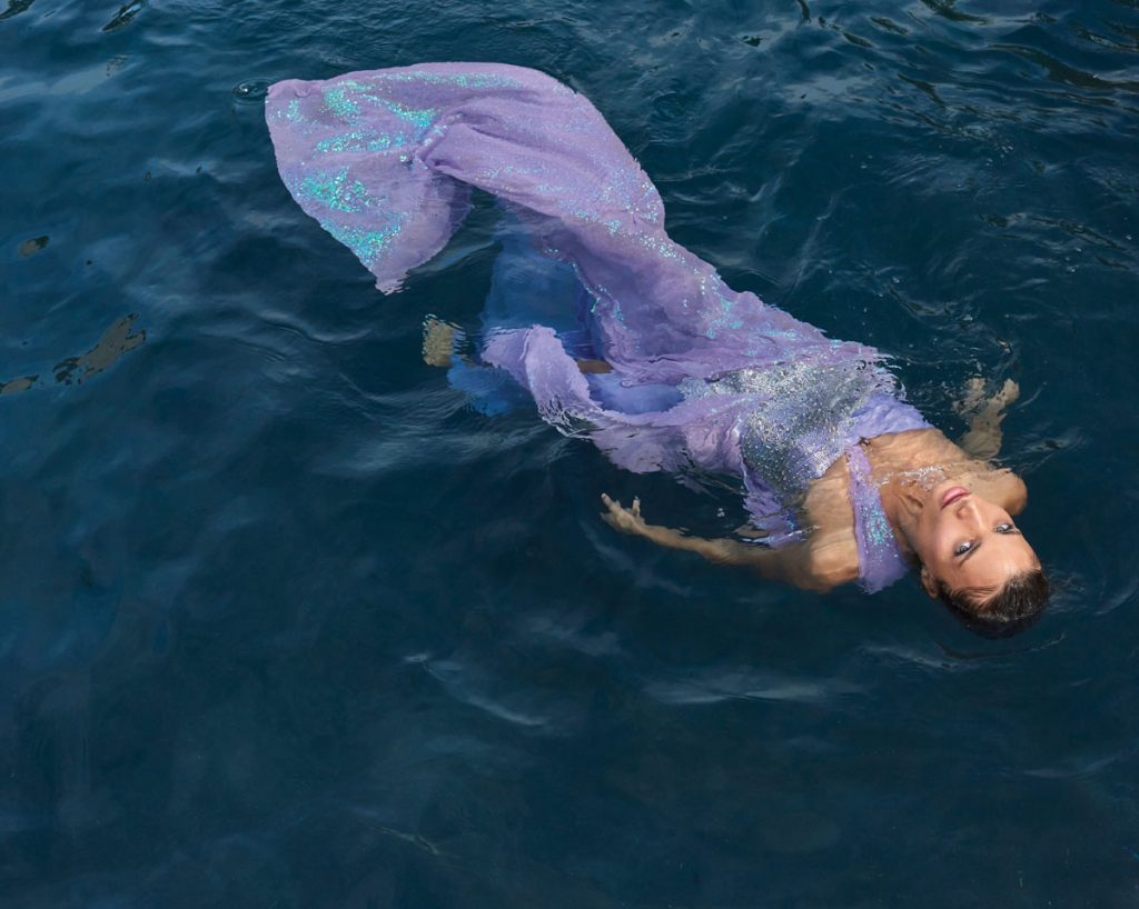 Rebekah Allred in vintage Fernando Garcia dress from Pinkgun Gallery, Photo by Danny Cardozo 7