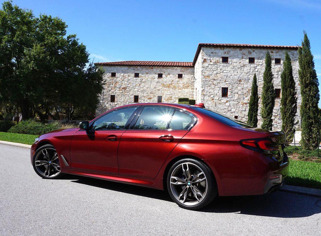 BMW 550i side rear view