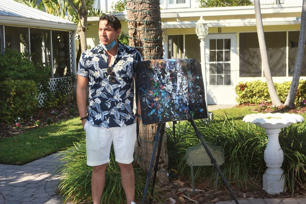 Marco Caridad at Cottages by the Ocean, hosts of his Artcation residency.