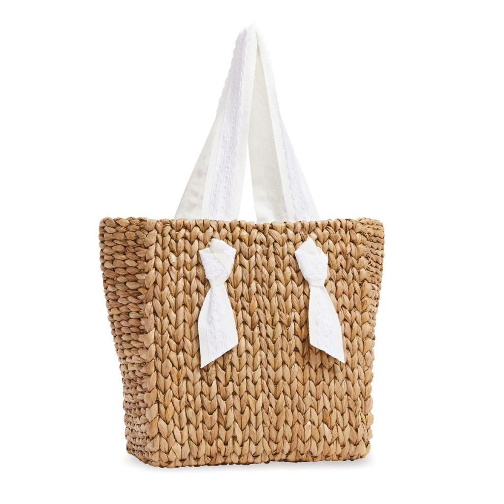 Petite Isla Bahia lace sand handbag ($265) designed byPamela Munson