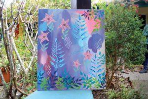 Redmond's artwork inspired by The Desoto Oceanview Inn's gardens