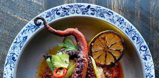 Riviera by Fabio Viviani's Charred octopus