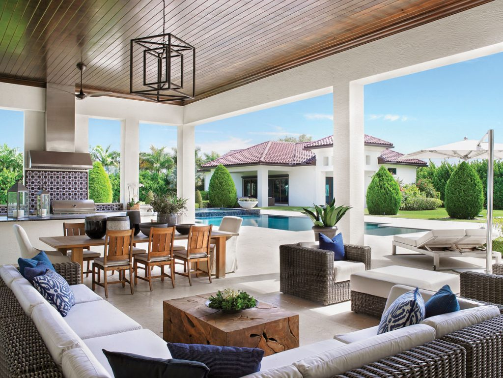 This Southwest Ranches home is ideal for both relaxing and entertaining outdoors. Photo by Troy Campbell