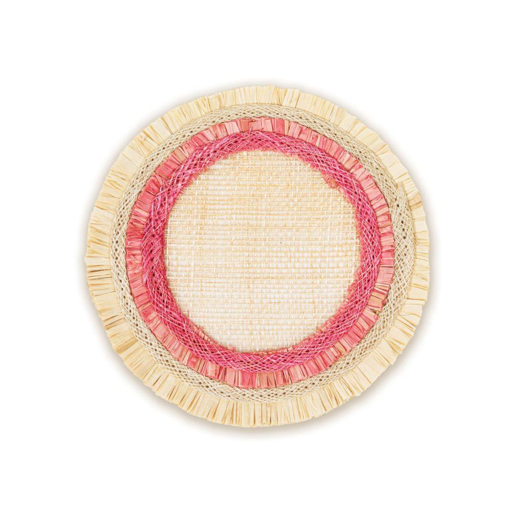 ruffle-edge straw coasters ($48) byJoanna Buchanan