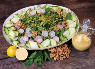 Ivey Leidy's Spring Vegetable Salad, photo by Kent Anderson
