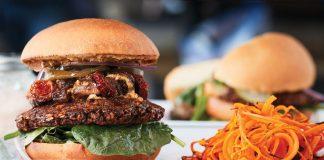Nobl Burger at Delicious Raw, photo by Gary James