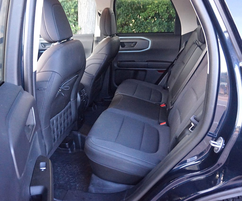 2021 Ford Bronco Sport back seat