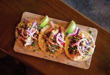 Crispy grouper and carne asada tacos. Photo by Gio Celona