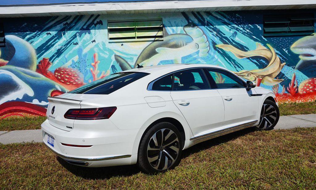 Volkswagen Arteon Flagship sports sedan rear view