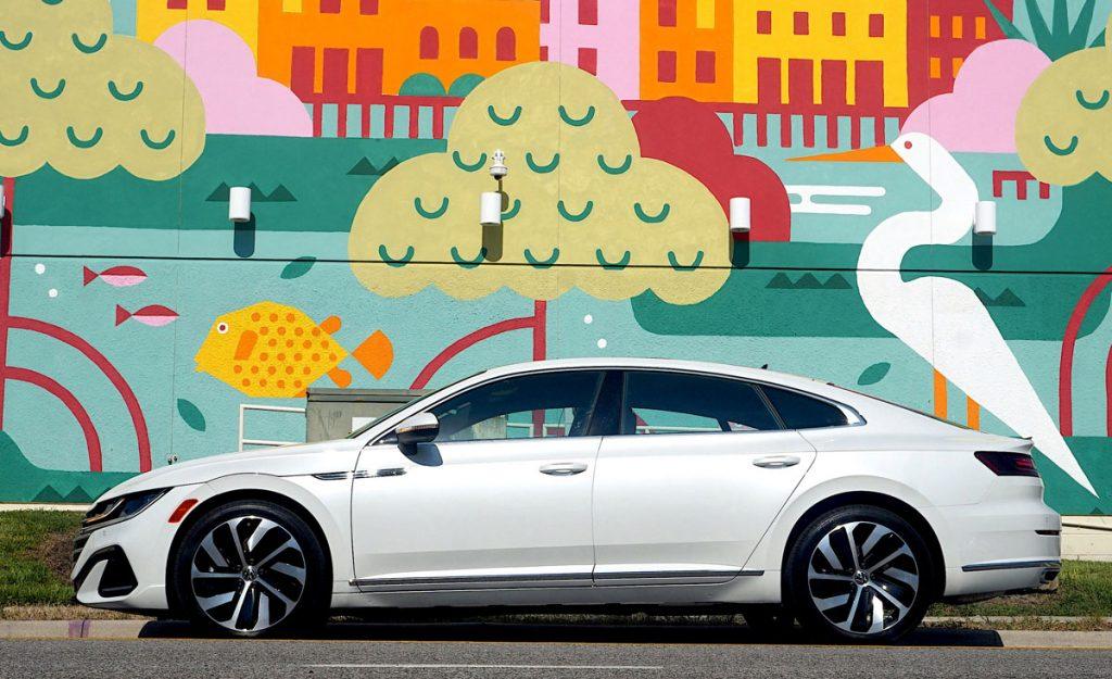 Volkswagen Arteon Flagship sports sedan side view