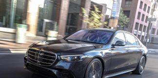 2021 Mercedes-Benz S-Class sedan driving front