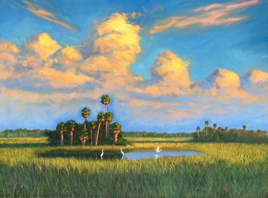 "Everglades Beauty, Tim Forman, original oil on canvas, 30"" x 40"""