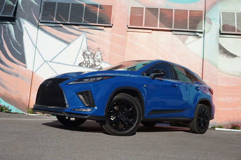 2022 RX350 Black Line front shot from below