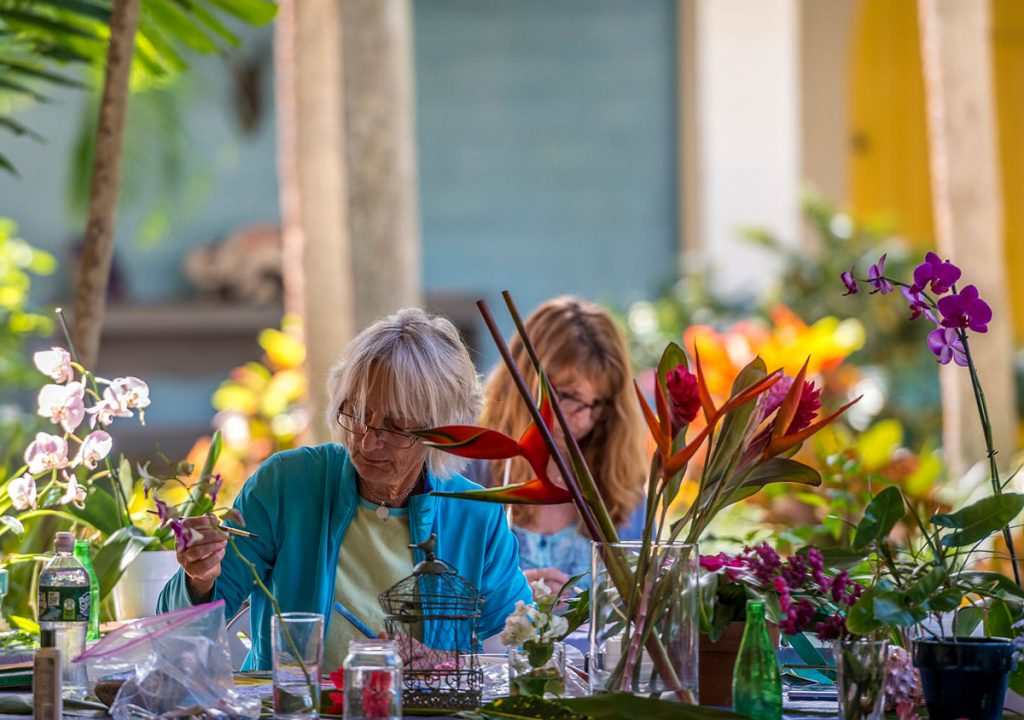 Orchid class at Bonnet House Museum & Gardens. Photo by Rolando Otero
