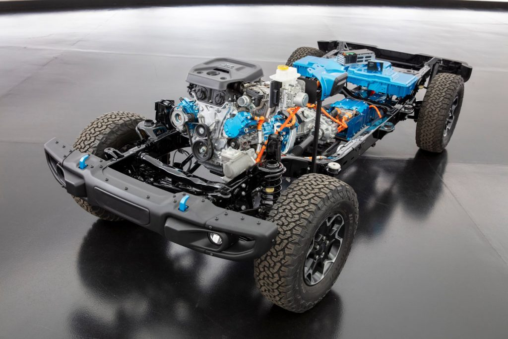 2021 Jeep Wrangler 4xe chassis