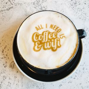 Circle House Coffee's foam art