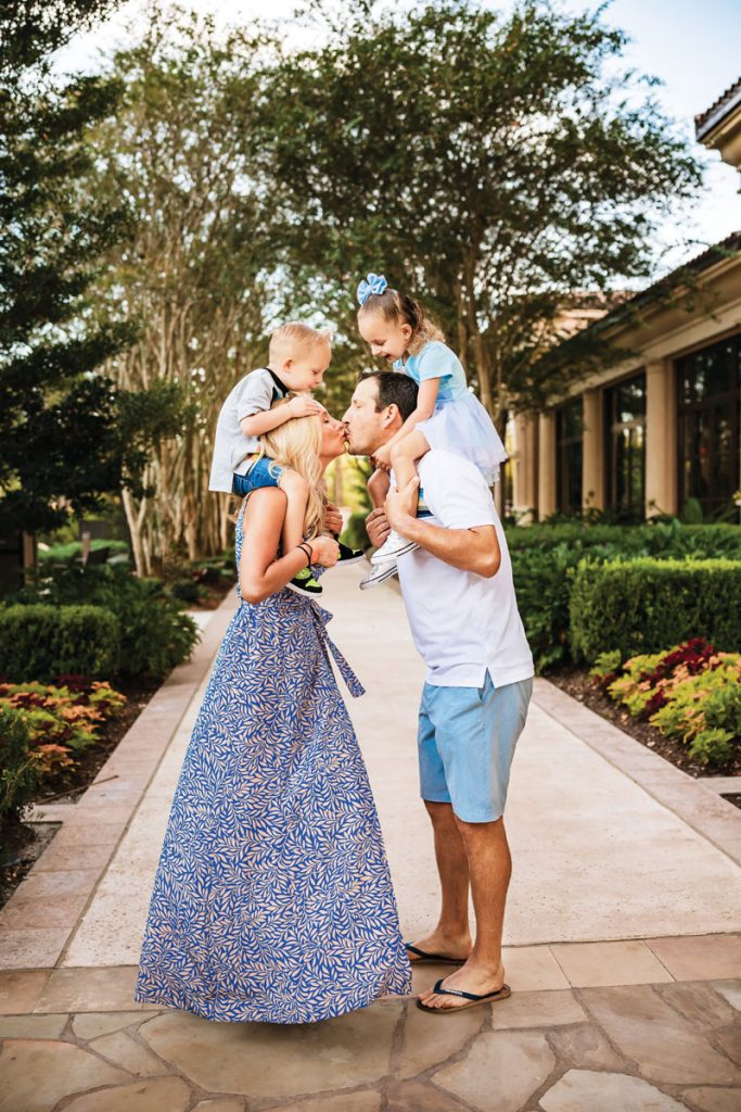Lauren Book with her husband Blair Byrnes and her twin children