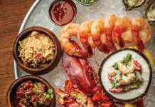 Raw Bar Oyster platter at Burlock Coast at The Ritz-Carlton, Fort Lauderdale