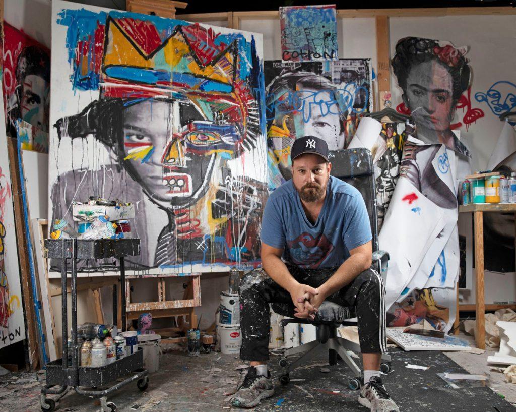 Artist Andrew Cotton. Photo by Shaun Cruz