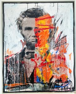 Check out Andrew Cotton's latest series Split Portraits at New River Fine Art on Las Olas Boulevard